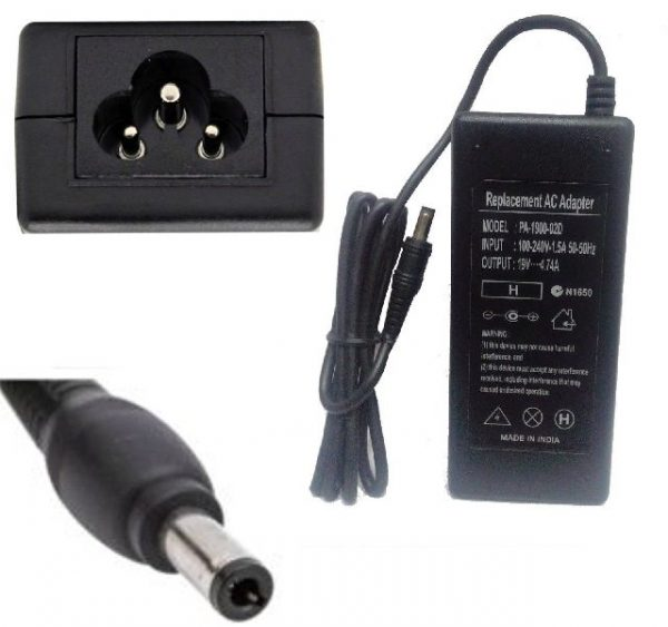 Replacement Asus Acer HP AC Adapter Charger 19V 4.74A 90W 5.5mm*2.5mm