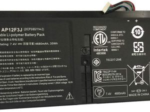 "Replacement AP12F3J Laptop Battery For Acer Aspire S7 Ultrabook S7-191-53314G12ass Aspire 13.3"" S7-391 series"