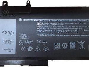 Replacement 3DDDG Laptop Battery for Dell Latitude E5280 E5480 Series