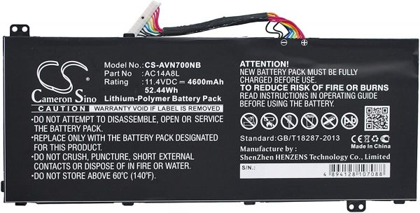 Replacement AC15B7L Battery for Acer Aspire VN7-571G VN7-591 VN7-591G series