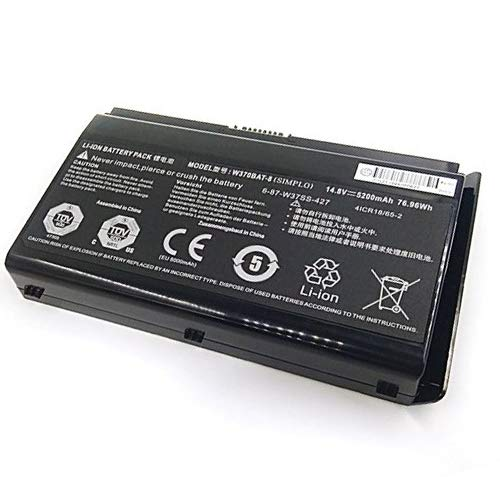 Replacement W370BAT-8 Laptop Battery for Clevo W350et W350ETQ W370ET Hasee K650C-I7 series