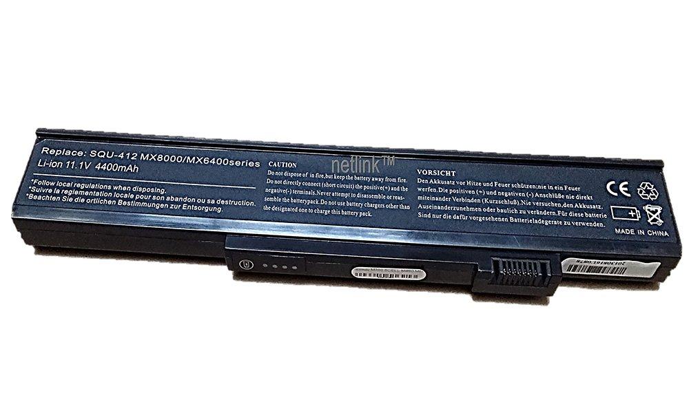 Replacement SQU-412 Laptop Battery for Gateway 6500 M360 M460 M680 series